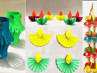 5 Very Easy Diwali Decoration Ideas 2017 | DIY Home Decor
