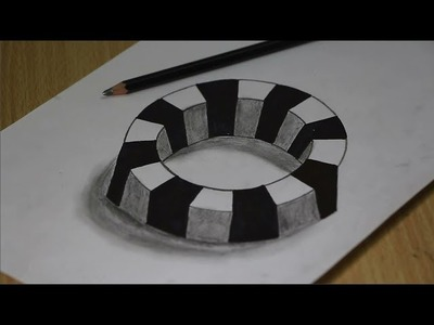 Amazing 3D Trick Art on White Paper - Step By Step