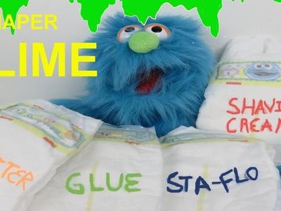 BABY DIAPER SLIME - How to make slime DIY Weird Recipe no borax ????