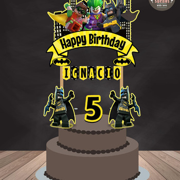Batman Lego Cake Topper, Batman Lego, Custom Cake Topper