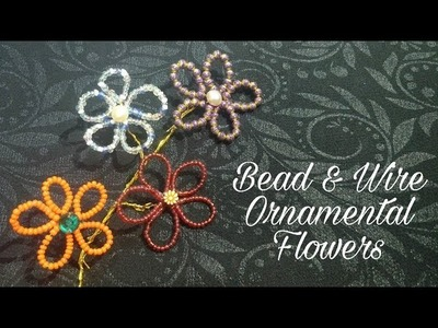 Bead & Wire Ornamental Flowers Home Decoration Ideas (DIY)
