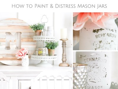 Chalk Painted Mason Jar