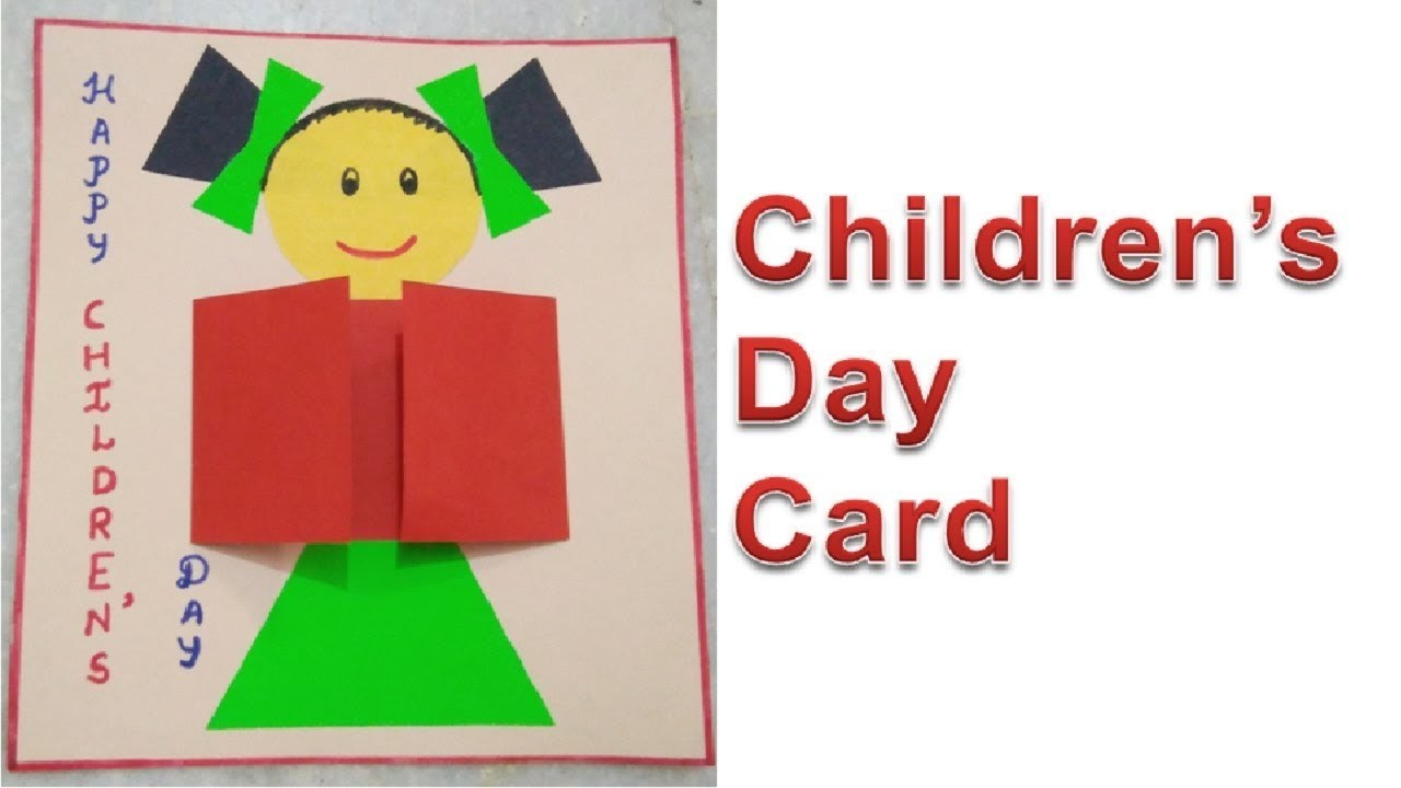 Childrens Day Greeting Card Making Idea Diy Handmade Card For