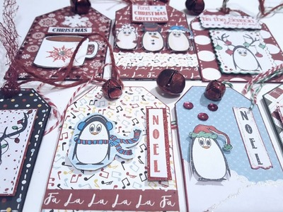 CHRISTMAS TAGS 2017 | HOLIDAY CRAFTS | PAPER CRAFTING