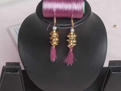 Diwali special Silkthread Tassel earrings||DIY tutorials for Diwali special silk thread tassel drops