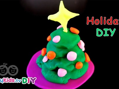 DIY 3D Christmas Tree | PlayDough Crafts | Kid's Crafts and Activities | Happykids DIY