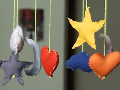 DIY Baby Mobile | SUPER SOOTHING BABY MUSIC | Moon Mobile | Star Mobile | DIY Crafts