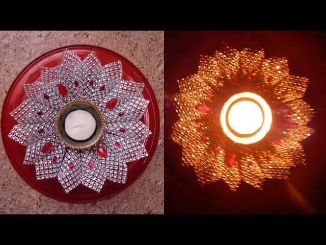 DIY Candle holder.Making Candle holder at home.Candle lights.Diwali Decoration idea.Craft for diwali