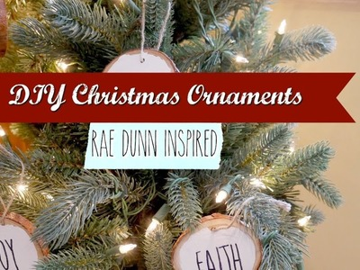 DIY CHRISTMAS ORNAMENTS | RAE DUNN INSPIRED