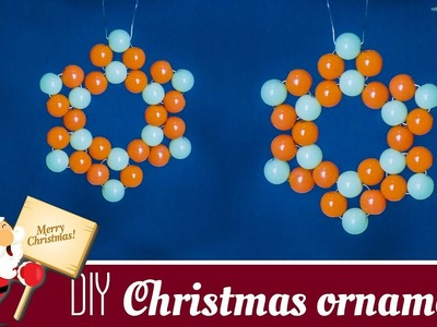 DIY  Christmas star ornaments | Christmas tree decoration | Holiday decor |  Beads art