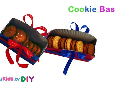 DIY Cookie Basket | Paper Crafts | Recycled Art | Kid's Crafts and Activities | Happykids DIY