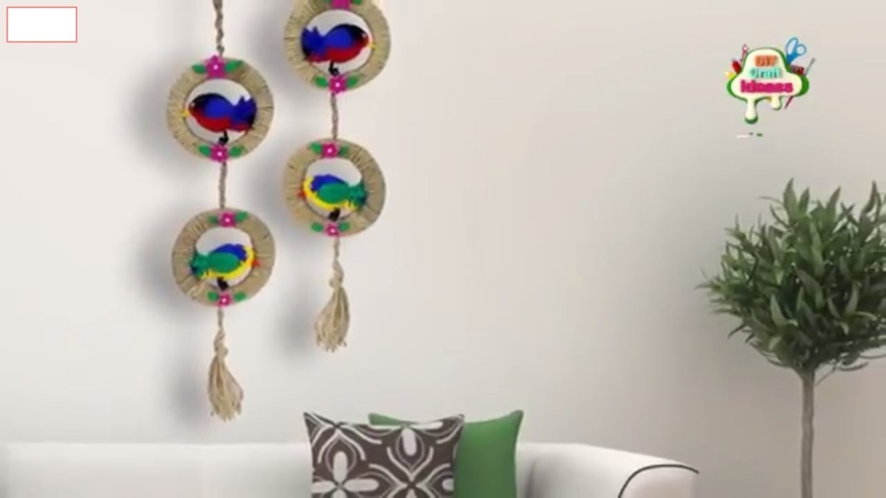 DIY Craft Ideas II DIY Woolen Birds Wall Hanging for Home Decoration