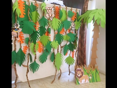 DIY crafts - forest animals theme - kids birthday party decoration