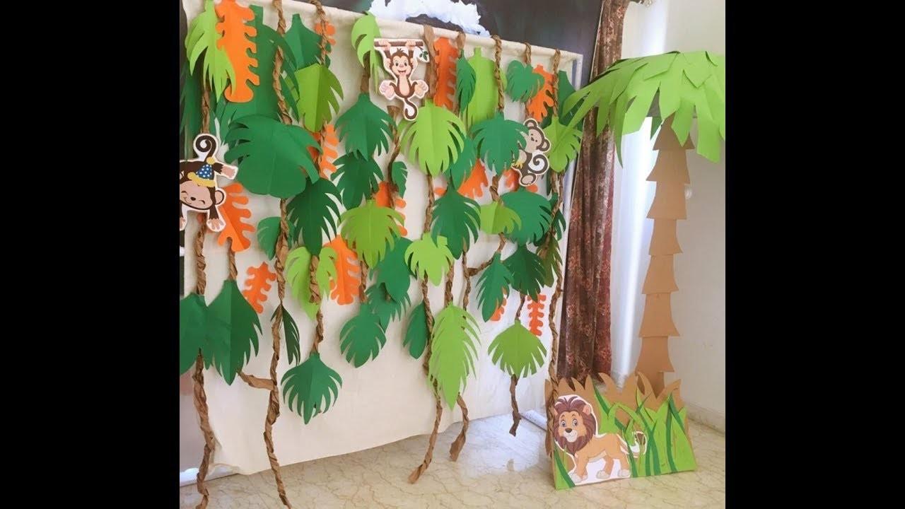 DIY crafts - forest animals theme - kids birthday party decoration