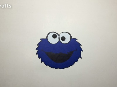 DIY crafts: Paper open sesame Cookie Monster (very EASY) | MST Crafts