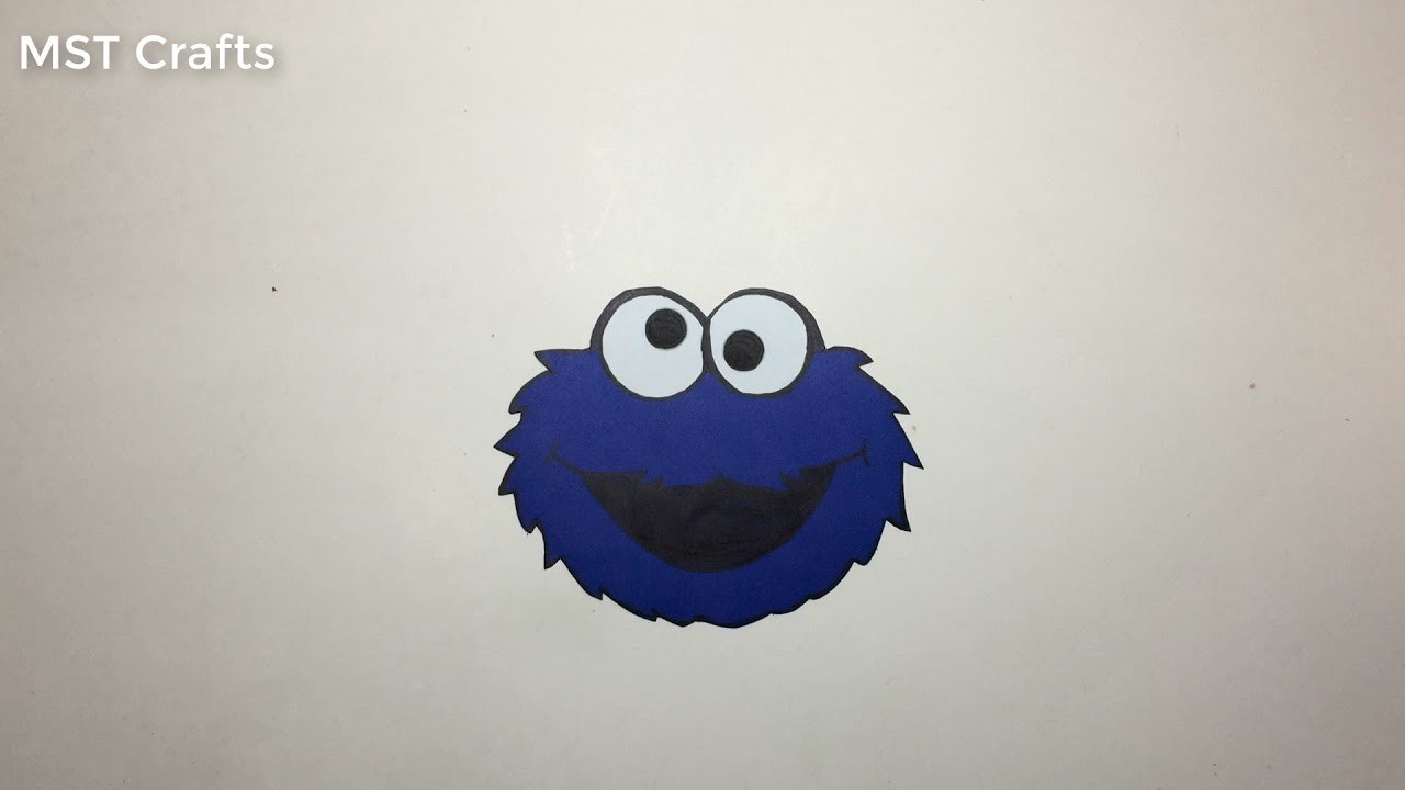 DIY crafts: Paper open sesame Cookie Monster (very EASY)   MST Crafts