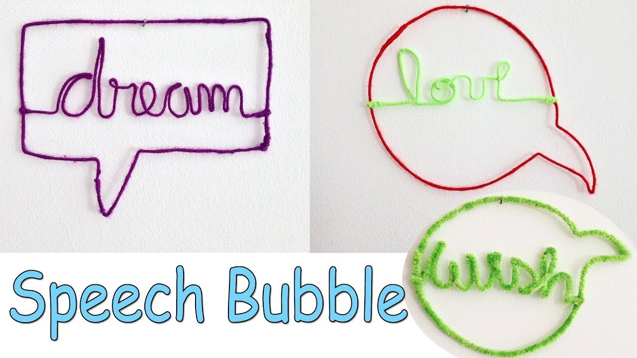 DIY Crafts : Speech Bubble - Ana | DIY Crafts