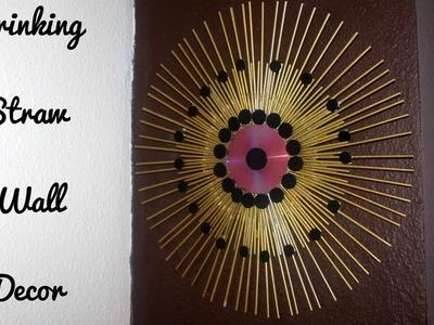 DIY Crafts: Wall Decor with Drinking Straw. DecornekDIY