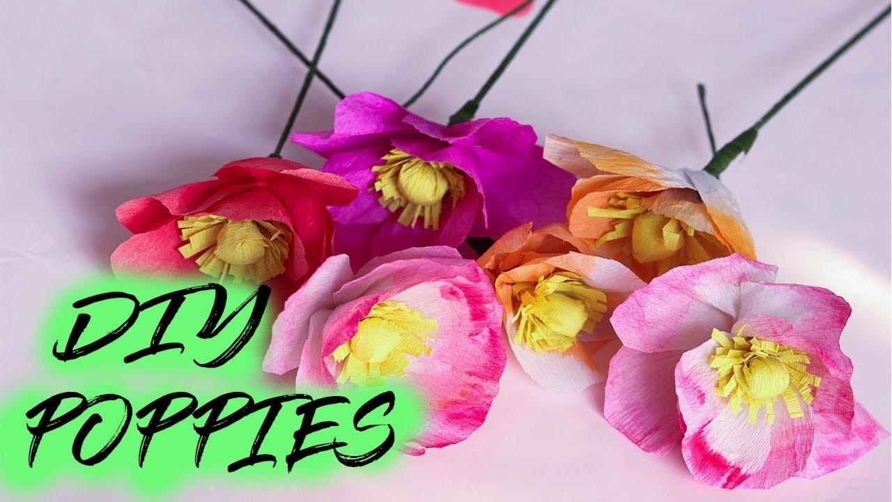 Diy Crepe Paper Poppies Easy Tissue Paper Flowers