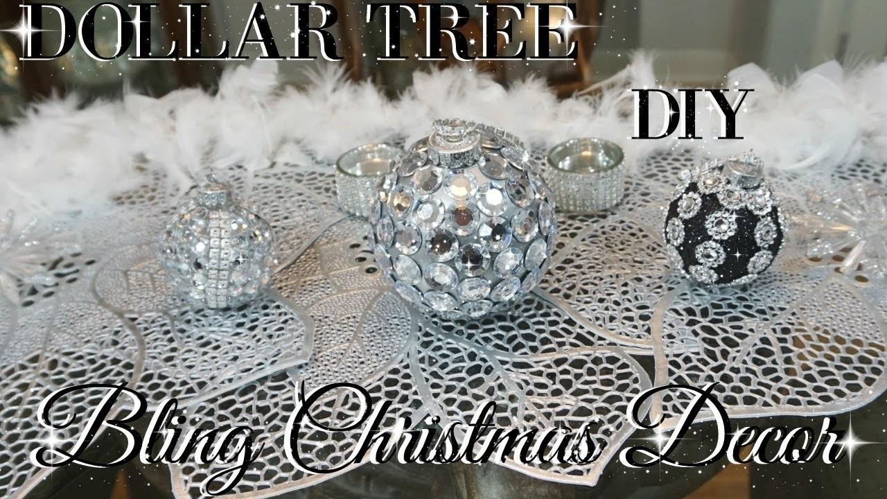 Diy dollar tree bling christmas ornaments diy dollar tree for Bling decor