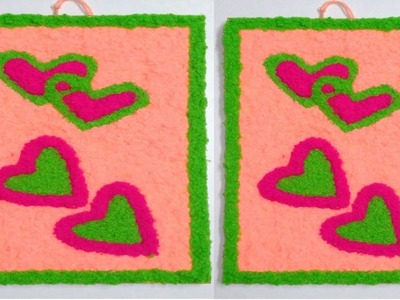 DIY easy Woolen art, wall hanging using woolen, room decoration idea