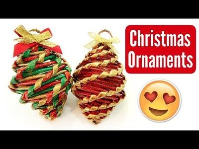 DIY EASY WOVEN CHRISTMAS ORNAMENT