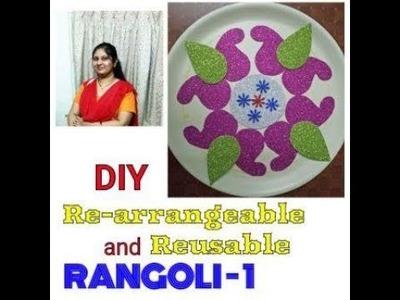 DIY FOAM SHEET MADE REUSEABLE AND REARRANGEABLE RANGOLI -1 (BASIC). Meghnazcreative side # 7