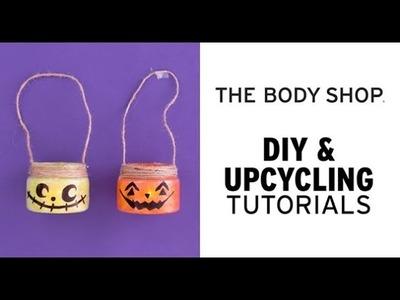DIY Halloween Decorations: Upcycled Pumpkin Jack O'Lanterns - The Body Shop