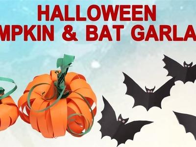 DIY Halloween - Pumpkin & Bat Garland - DIY Crafts