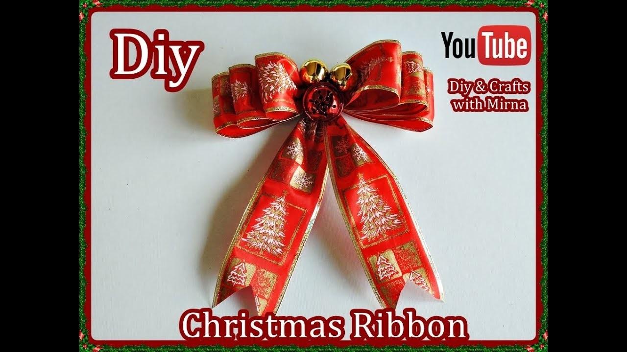 Diy  How to Make a Christmas Ribbon Diy & Crafts with Mirna