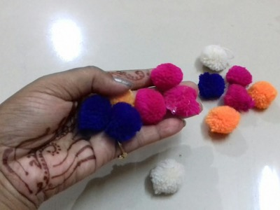 DIY. How to make easy pom pom hair accessories at home