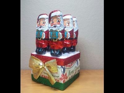 DIY~Make A  D.T. Chocolate Santa Candy Caddy! Cute & Inexpensive!
