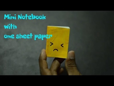 DIY Mini Notebook::One A4 sheet of paper  Easy Craft 