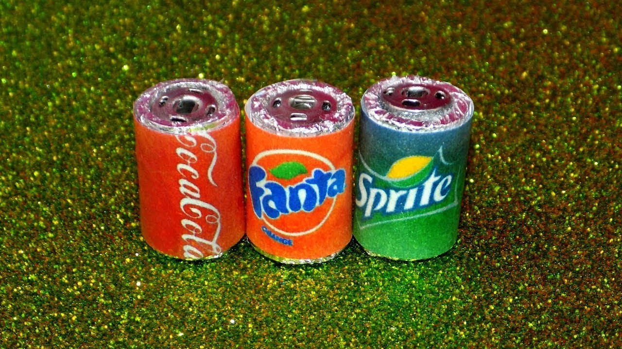 DIY Miniature Soda Cans - How to Make LPS Crafts, LPS Stuff
