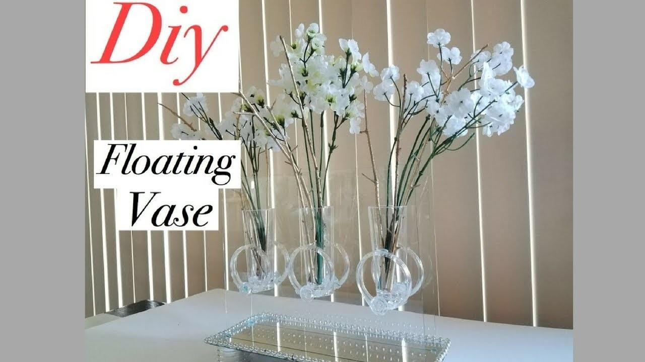 Diy Mirror Table Decor Floating Vase Using Dollar Store Items