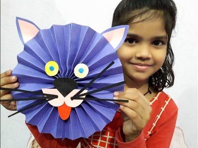 DIY PAPER CAT FACE,PAPER ANIMAL,EASY PAPER CRAFTS