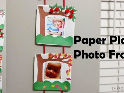 DIY Paper Plate Photo Frame:Photo frame using paper plate