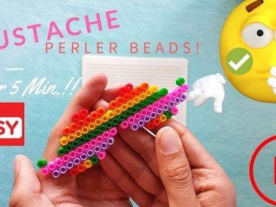 ceca59570 ✓DIY! Perler Beads - BonBon MUSTACHE! (EASY TO DO!)