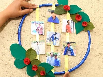 DIY Photo Display Ideas Photo Frame Wreath | Creative Photo Wall Decor | DIY Crafts