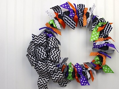 DIY Projects Halloween Ribbon Wreath