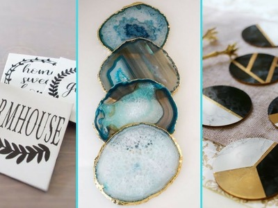 ❤ DIY Shabby chic style Coaster decor Ideas ❤| Home decor & Interior design | Flamingo Mango|