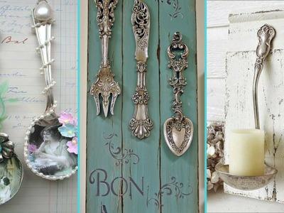 ❤ DIY Shabby chic style Silverware decor Ideas ❤ | Spoon & Fork decor Ideas | Flamingo Mango|