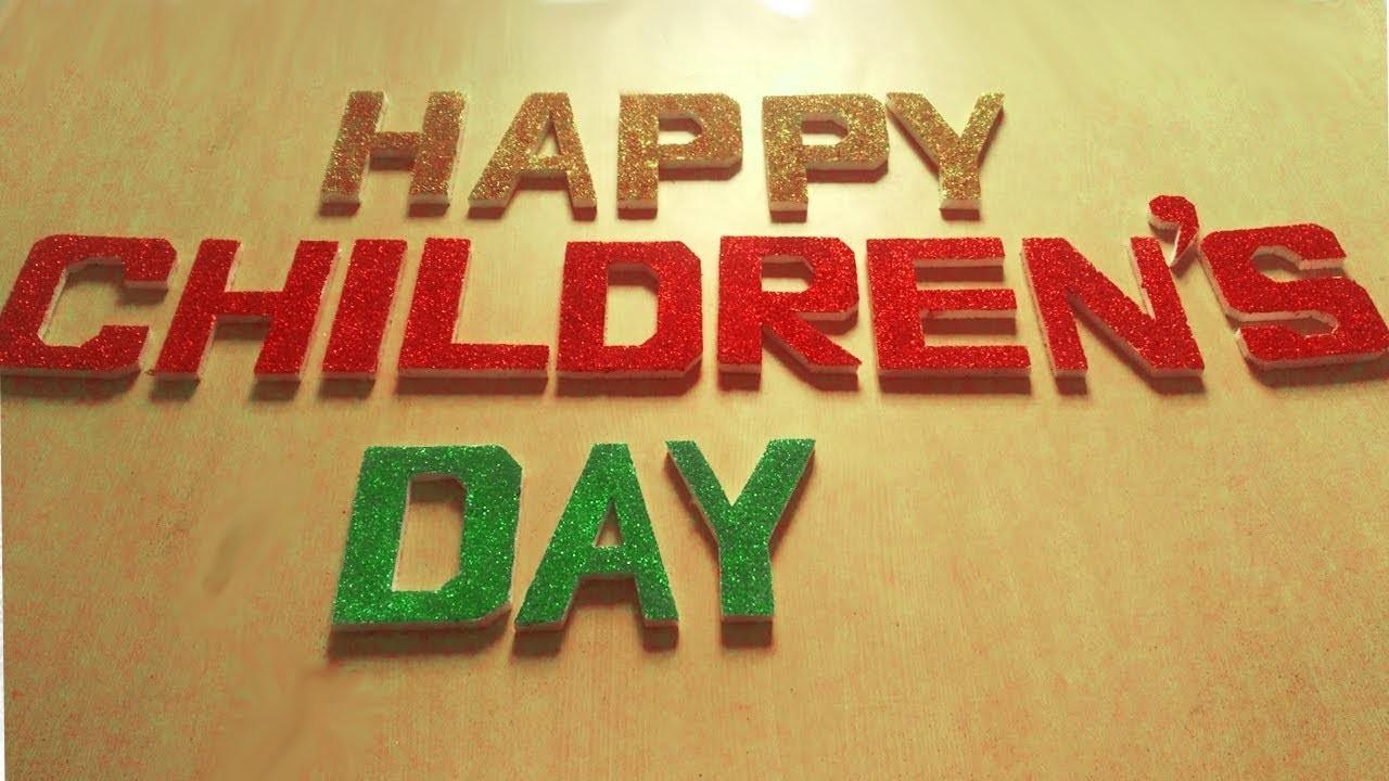 3d Letter Diy.Diy Thermocol 3d Letter Children Day Decoration