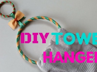 DIY Towel Hanger | Recycling Tissue Bags