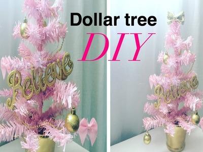 Dollar tree DIY. Pink Christmas tree