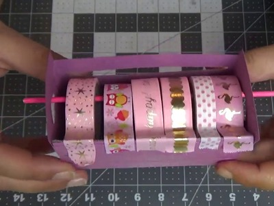 Easy and Adorable Washi Tape Dispenser.  DIY.