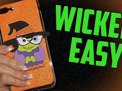 EASY DIY PHONE CASE FEATURING MY DAUGHTER! - CUTE HALLOWEEN WITCH DIY PHONE CASE