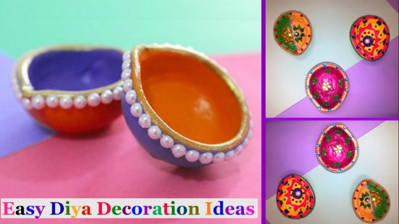 Easy Diya Decoration Ideas |Diwali Home Decore ideas |Diwali Decoration -DIY