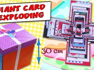 GIANT EXPLODING BOXES CARD -  GIFT IDEA - LOVE CARD | aPasos Crafts DIY