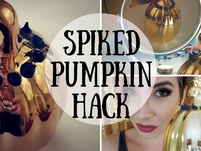 HACK + Spiked Pumpkin + DIY Halloween Decor